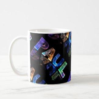 The Name Paul in 3D Lights (Photograph) Mug