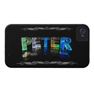 The Name Peter - Name in Lights (Photograph) iPhone 4 Covers