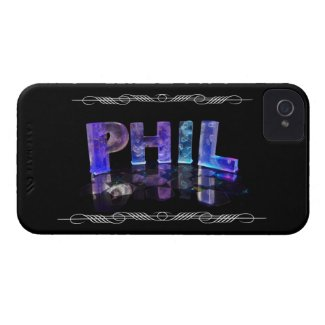 The Name Phil - Name in Lights (Photograph) Case-Mate iPhone 4 Cases
