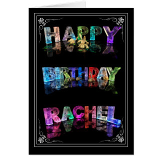 The Name Rachel in 3D Lights (Photograph) Card