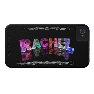 The Name Rachel in 3D Lights (Photograph) Case-Mate iPhone 4 Cases