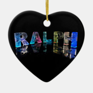 The Name Ralph in 3D Lights (Photograph) Christmas Ornament
