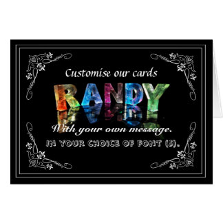The Name Randy in 3D Lights (Photograph) Greeting Card
