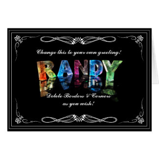 The Name Randy in 3D Lights (Photograph) Card