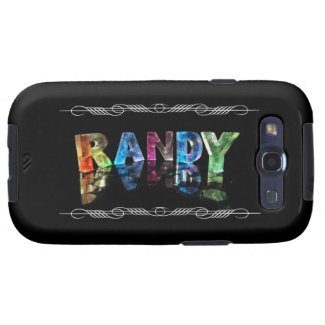 The Name Randy in 3D Lights (Photograph) Galaxy SIII Case