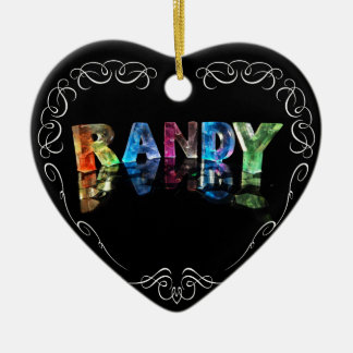 The Name Randy in 3D Lights (Photograph) Christmas Ornament