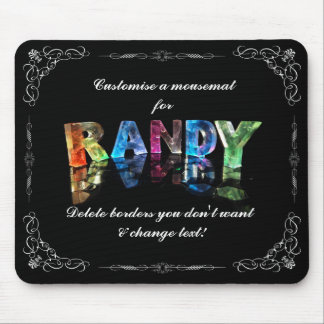 The Name Randy in 3D Lights (Photograph) Mouse Pad