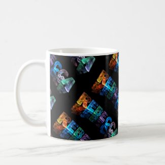 The Name Rebecca in 3D Lights (Photograph) Coffee Mugs