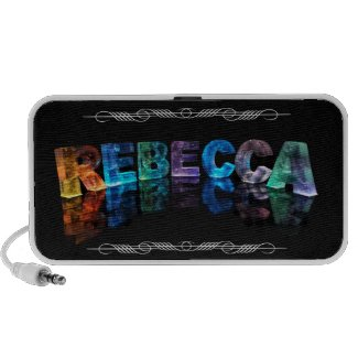 The Name Rebecca in 3D Lights (Photograph) Speakers