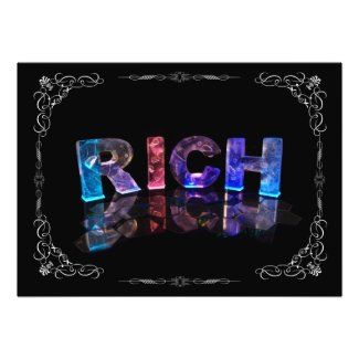 The Name Rich in 3D Lights (Photograph)