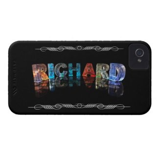 The Name Richard in 3D Lights (Photograph) iPhone 4 Cases