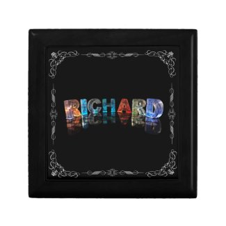 The Name Richard in 3D Lights (Photograph) Jewelry Boxes