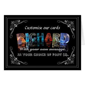 The Name Richard in 3D Lights (Photograph) Greeting Card