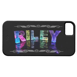 The Name Riley in 3D Lights (Photograph) Case For The iPhone 5