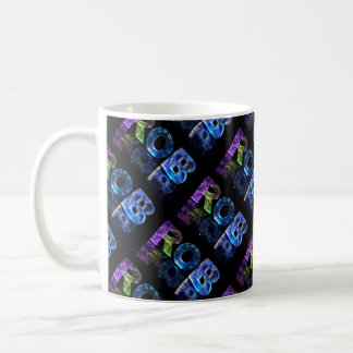 The Name Rob in 3D Lights (Photograph) Coffee Mug