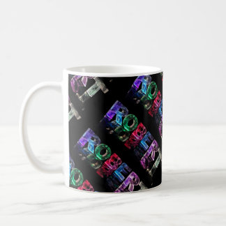 The Name Robert in 3D Lights (Photograph) Coffee Mug