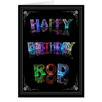 The Name Rod in 3D Lights (Photograph) Card