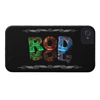 The Name Rod in 3D Lights (Photograph) iPhone 4 Case