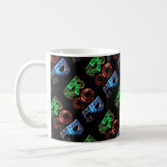 The Name Rod in 3D Lights (Photograph) Coffee Mug