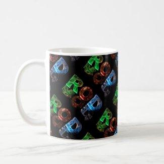 The Name Rod in 3D Lights (Photograph) Coffee Mug