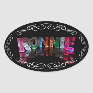 The Name Ronnie in 3D Lights (Photograph) Stickers
