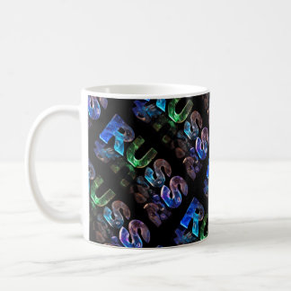 The Name Russ in 3D Lights (Photograph) Coffee Mug