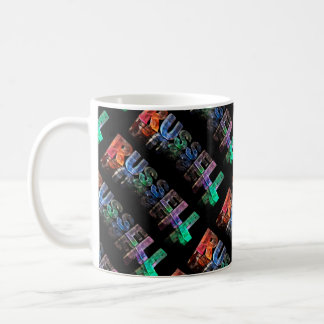 The Name Russell in 3D Lights (Photograph) Coffee Mug