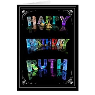 The Name Ruth in 3D Lights (Photograph) Cards
