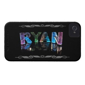 The Name Ryan in 3D Lights (Photograph) iPhone 4 Covers