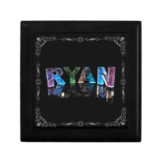 The Name Ryan in 3D Lights (Photograph) Gift Box