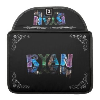 The Name Ryan in 3D Lights (Photograph) Sleeve For MacBooks