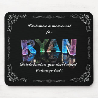 The Name Ryan in 3D Lights (Photograph) Mouse Pad