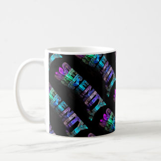 The Name Serenity -  Name in Lights (Photograph) Coffee Mug