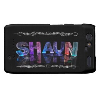 The Name Shaun - Name in Lights (Photograph) Droid RAZR Covers
