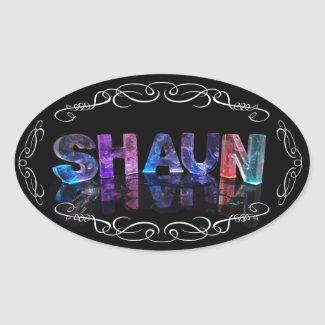 The Name Shaun - Name in Lights (Photograph) Stickers