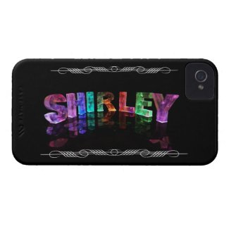 The Name Shirley - Name in Lights (Photograph) iPhone 4 Case-Mate Case