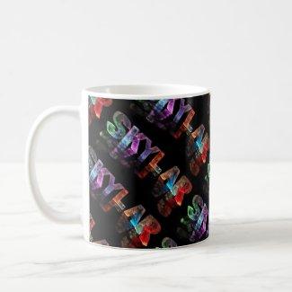 The Name Skylar - Name in Lights (Photograph) Mugs