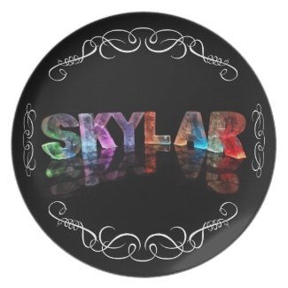 The Name Skylar - Name in Lights (Photograph) Plates