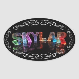 The Name Skylar - Name in Lights (Photograph) Stickers