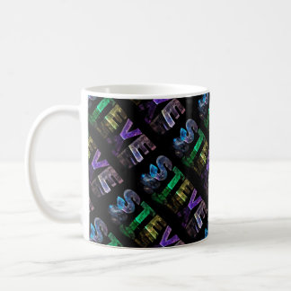 The Name Steve -  Name in Lights (Photograph) Coffee Mug