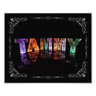 The Name Tammy - Name in Lights (Photograph)