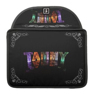 The Name Tammy - Name in Lights (Photograph) Sleeves For MacBook Pro