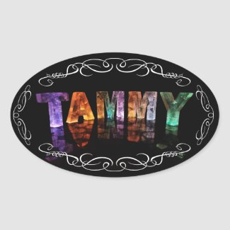 The Name Tammy - Name in Lights (Photograph) Sticker