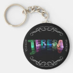 The Name Teresa -  Name in Lights (Photograph) Key Chains