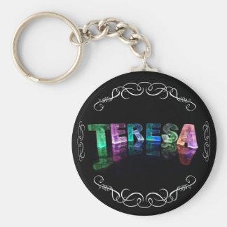 The Name Teresa -  Name in Lights (Photograph) Key Ring