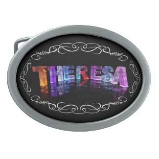 The Name Theresa - Name in Lights (Photograph) Belt Buckles