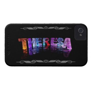 The Name Theresa - Name in Lights (Photograph) Case-Mate iPhone 4 Case