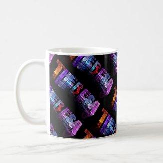 The Name Theresa - Name in Lights (Photograph) Coffee Mug