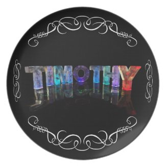 The Name Timothy - Name in Lights (Photograph) Plates