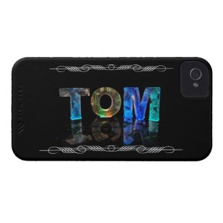 The Name Tom - Name in Lights (Photograph) iPhone 4 Case-Mate Case
